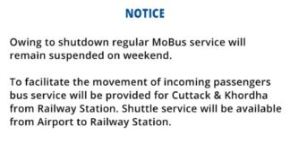Regular MoBus Bus service will remain suspended on weekend.
