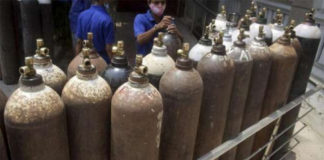 Health Department Directs To Fillup Empty Oxygen Cylinders