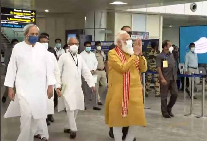PM Modi Arrived In Bhubaneswar To Visit Cyclone Affected Area Of Odisha